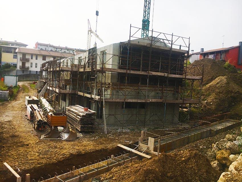 Cantiere edile a Treppo Grande